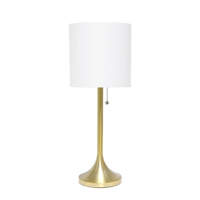 Tapered Desk Lamp with Fabric Drum Shade White - Simple Designs