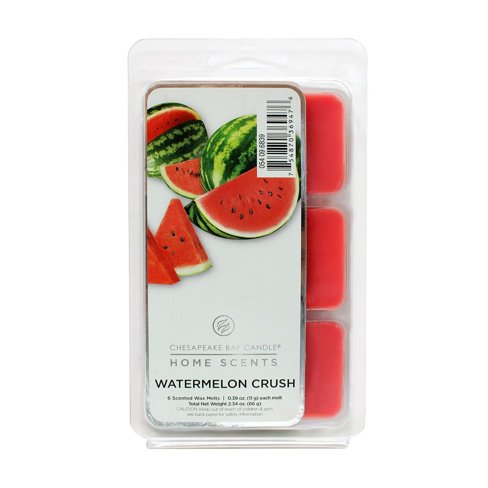 6pk Wax Melts Watermelon Crush Home Scents By Chesapeake