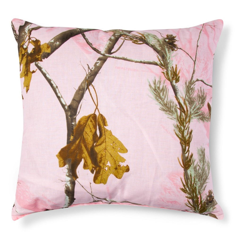 Image of Realtree Nature Inspired Throw Pillow - Pink