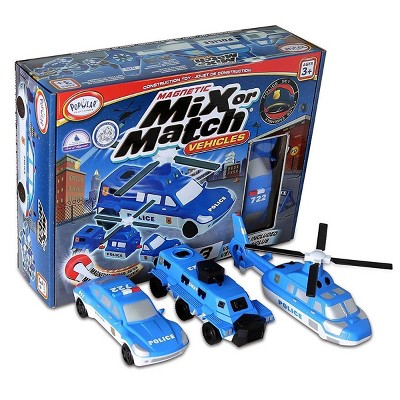 Popular Playthings Mix or Match: Police Vehicles Set