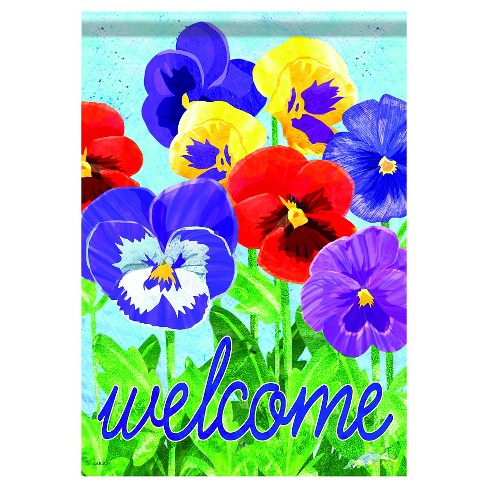 "13""x18"" Pansies Garden Flag - Carson - image 1 of 1"