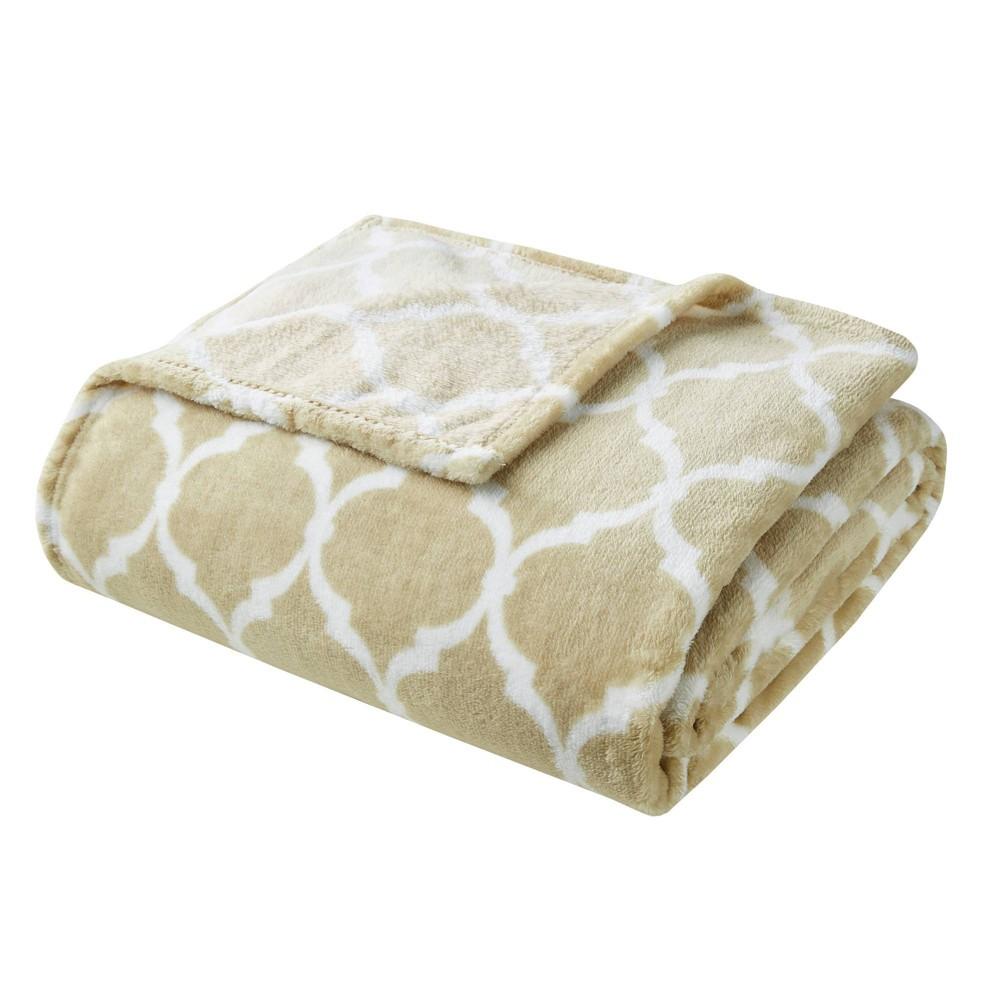 60 34 X70 34 Oversized Ogee Throw Blanket Tan