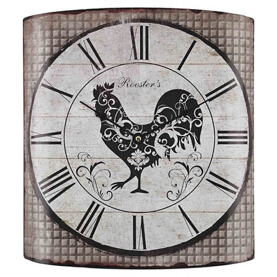 Rooster's 14  Wall Clock Gray Tartan - Lazy Susan®