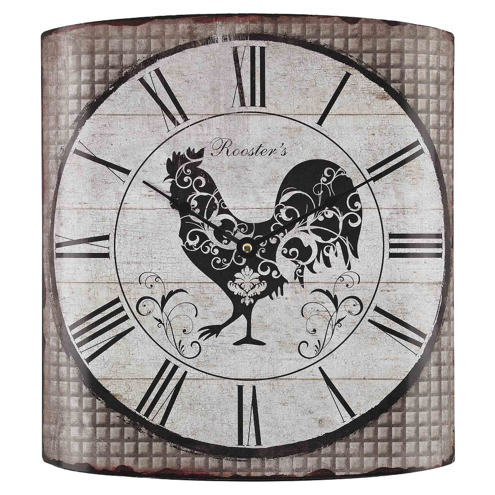 """Image of """"Rooster's 14"""""""" Wall Clock Gray Tartan - Lazy Susan"""""""