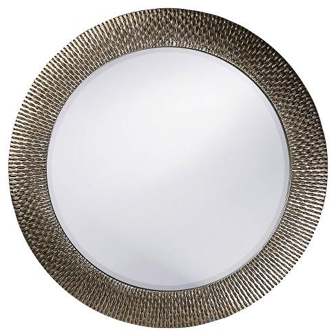 Round Bergman Decorative Wall Mirror Dark Silver - Howard Elliott - image 1 of 3