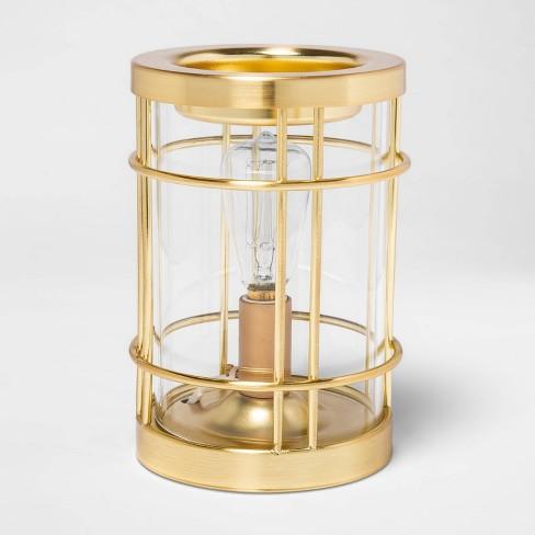 "6.5"" x 4.5"" Edison Bulb Metal Scent Warmer Bronze - Threshold™ - image 1 of 2"