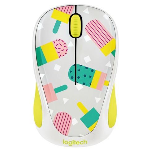 Logitech M317 Wireless Popsicles Mouse - Black (910-004693)