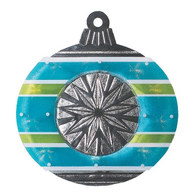 "Impact Innovations 15.5"" Blue and Green Christmas Window Silhouette Decor"