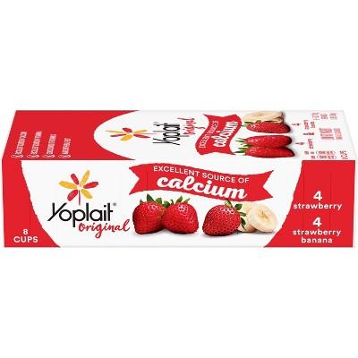 Yoplait Original Strawberry and Strawberry Banana Yogurt - 8pk/6oz Cups