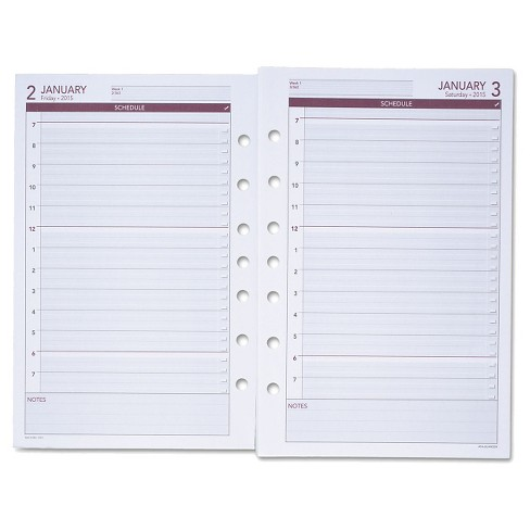 2017 AT-A-GLANCE® Day Runner Daily Planning Pages, 5 1/2 x 8 1/2 - image 1 of 1