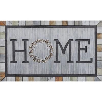 "1'6""x2'6"" Doorscapes Mat Homestead Wreath Tin - Mohawk"