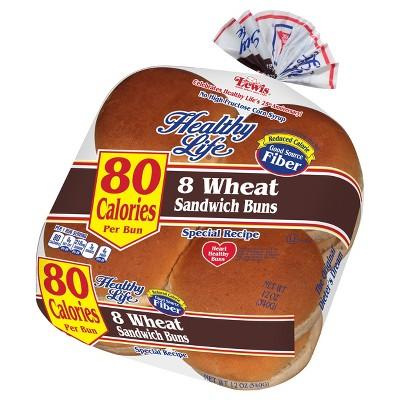 Healthy Life Wheat Hamburger Buns - 12oz/8ct