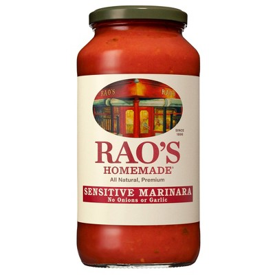 Rao's Homemade Sensitive Formula Marinara Sauce Premium Quality All Natural Tomato Sauce & Pasta Sauce Keto Friendly Carb Conscious - 24oz