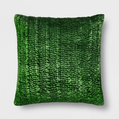 01e031ce37dd2 Hand Quilted Velvet Oversize Square Throw Pillow - Opalhouse™