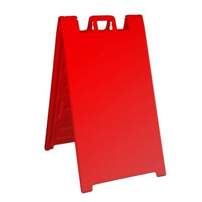Plasticade Signicade A Frame Plain Portable Folding Sidewalk Sign, Red (4 Pack)