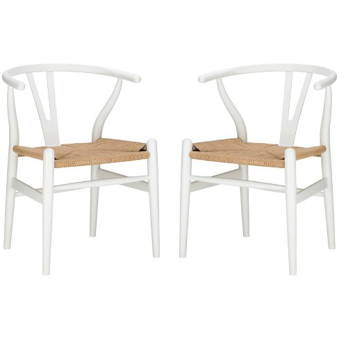 Set of 2 Alexa Weave Chair White - Poly & Bark - image 1 of 4