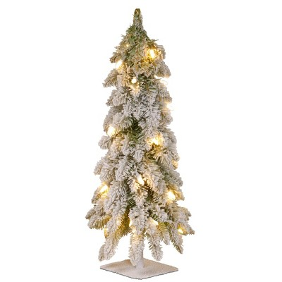 2ft National Christmas Tree Company Snowy Down swept Artificial Christmas Tree 50ct Clear