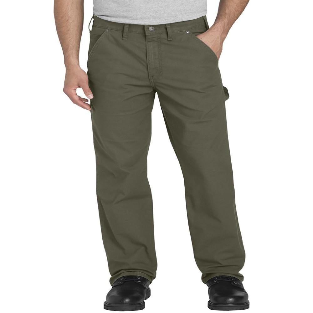 Image of Dickies Men's Big & Tall Ripstop Flex Regular Straight Fit Carpenter Pants - Moss Green 44x32, Green Green