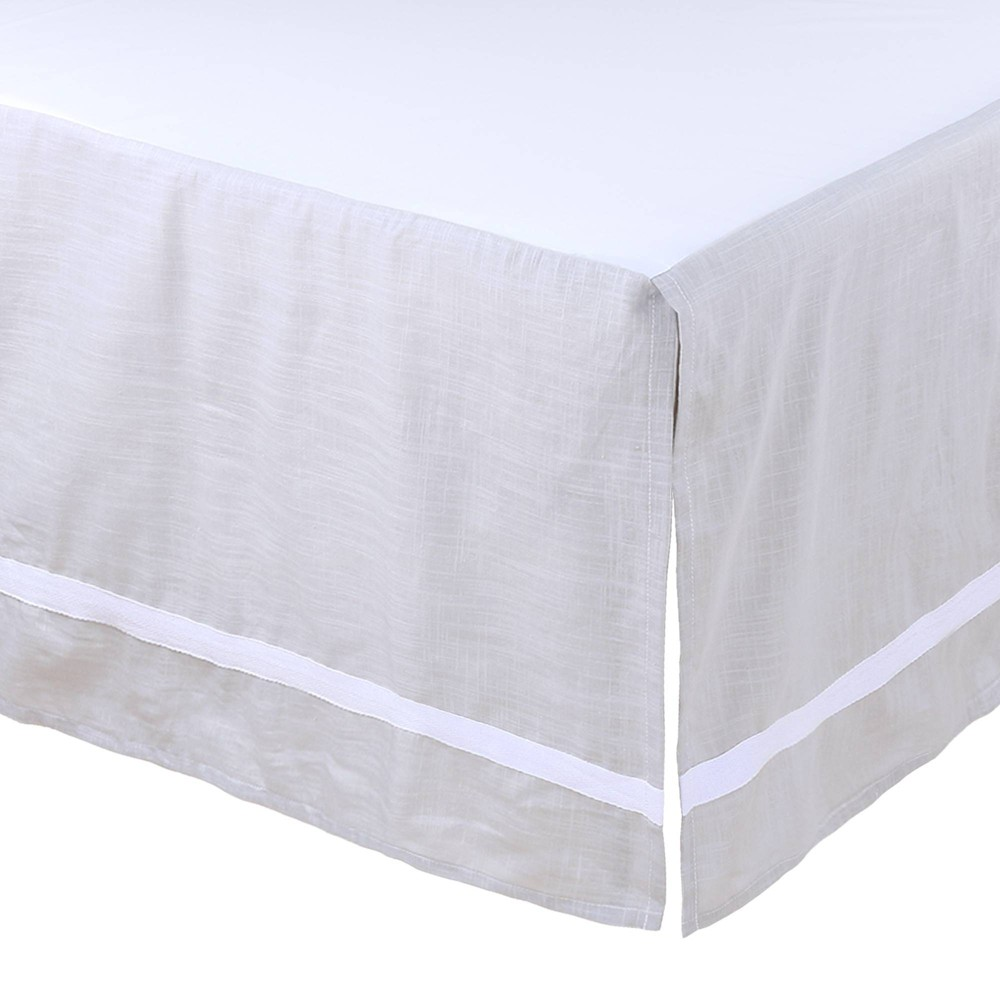 Image of Farmhouse Crib Skirt by The Peanutshell - Gray