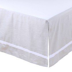 Farmhouse Crib Skirt by The Peanutshell - Gray