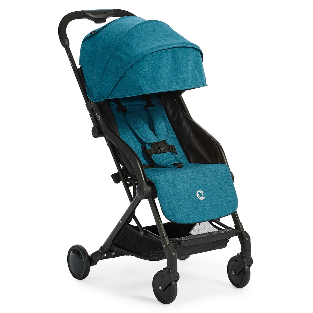 Image of Contours Bitsy Compact Fold Stroller - Teal, Blue
