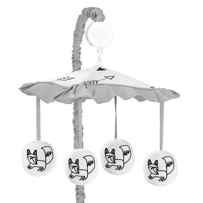 Sweet Jojo Designs Musical Mobile - Fox - Black/White