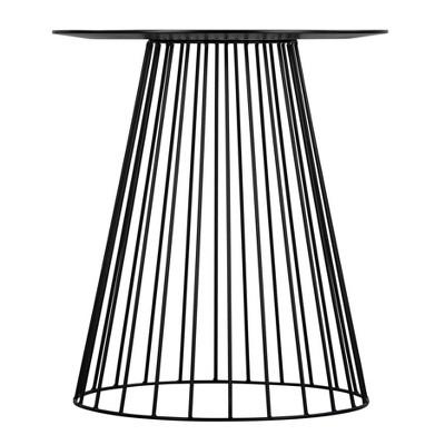 Element Round Side Table Black - Adore Decor