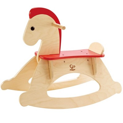 Hape Rock and Ride Kids Wooden Toy Rocking Horse with Handles for Toddler Riders