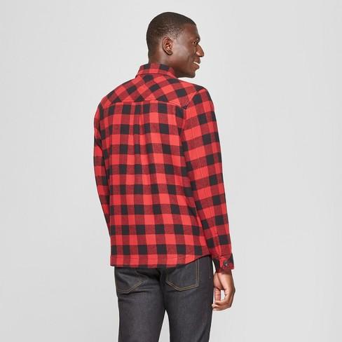 a20bad509 Men's Long Sleeve Buffalo Check Plaid Shirt Jacket - Goodfellow & Co™ Ripe  Red