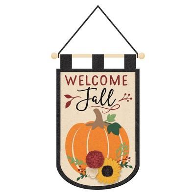 3D Welcome Fall Felt Harvest Garland