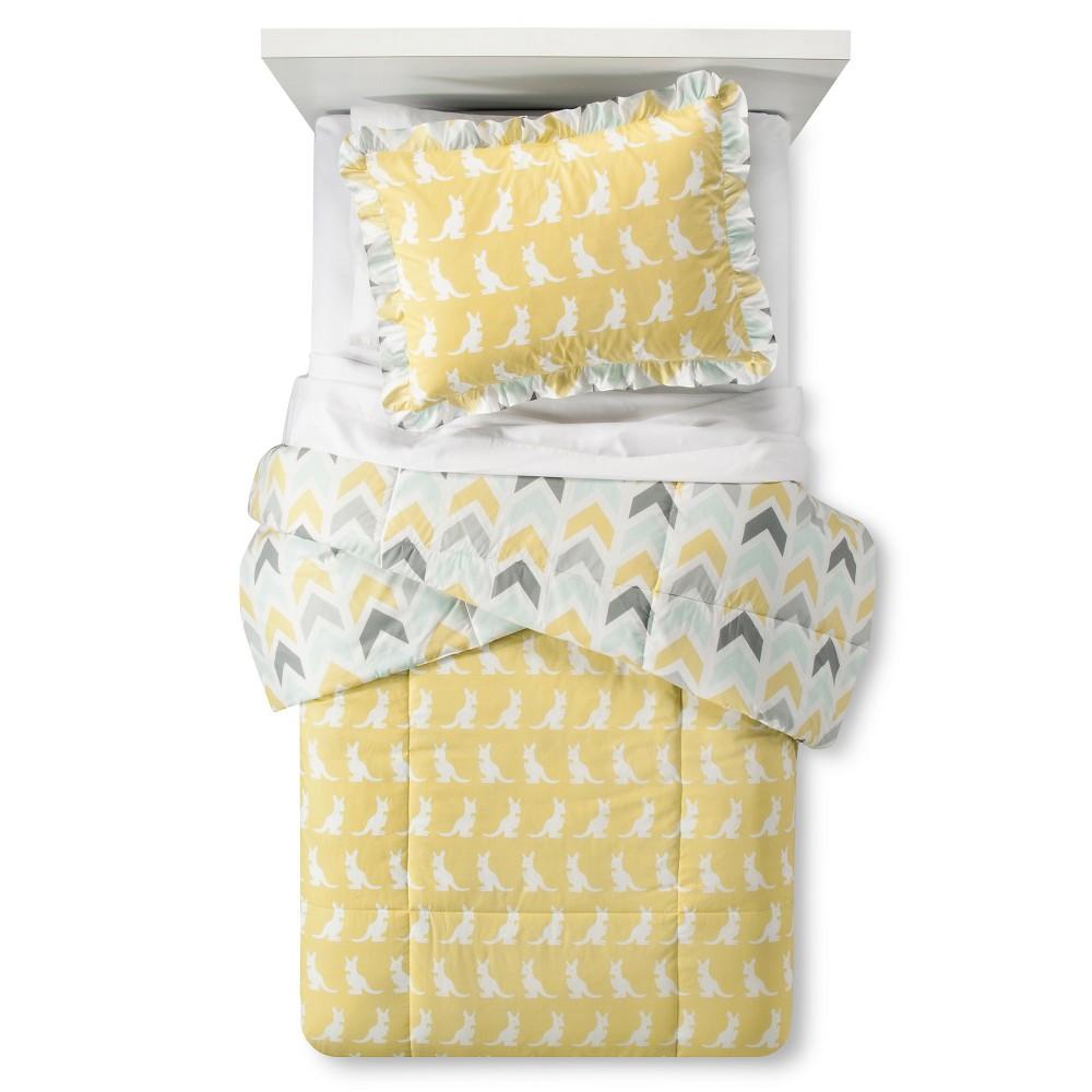 Image of Honeydew Kangaroo Comforter Set Twin - Pam Grace Creations, Gold