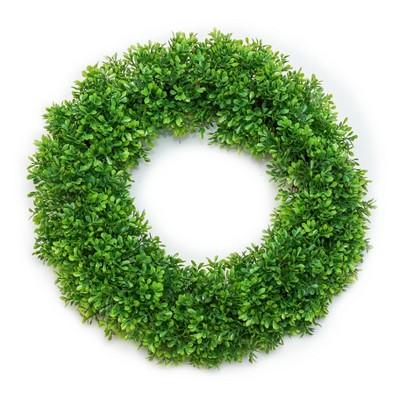 Artificial Plant Wreath Green 18 x18  - Lloyd & Hannah