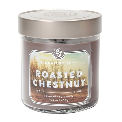 15.2oz Large Jar 2-Wick Candle Roasted Chestnut - Signature Soy