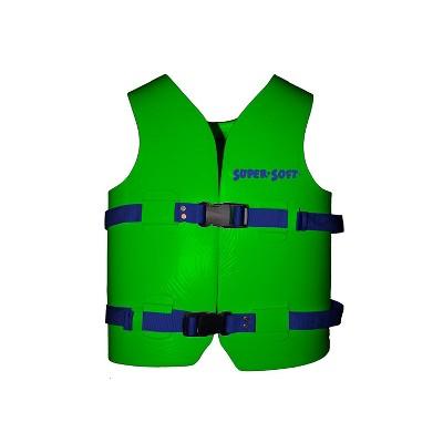 TRC Recreation 1021542 Super Soft Medium United States Coast Guard Approved Child Vinyl Coated Foam Life Preserver Floatation Vest, Fierce Green