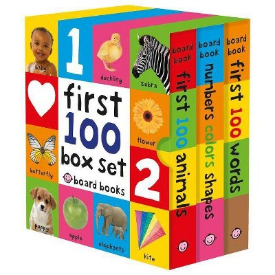 First 100 Board Book Box Set (3 Books)- by Roger Priddy (Mixed Media Product)