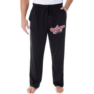 A Christmas Story Men's Classic Film Logo Loungewear Pajama Pants