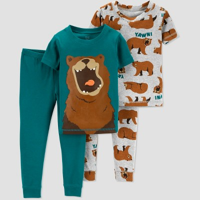 Toddlers Boys' 4pc Bear Pajama Set - Just One You® made by carter's Gray 5T