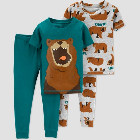 32db4e681 Baby Boys  4pc Bear South Pajama Set - Just One You   Target