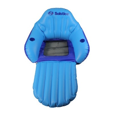 """Swimline 67"""" Convertible Easy Chair 1-Person Swimming Pool Inflatable Floating Lounger with Mesh Seat - Blue"""