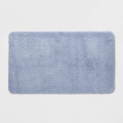 "20""x34"" Performance Nylon Bath Rug Water Blue - Threshold™"