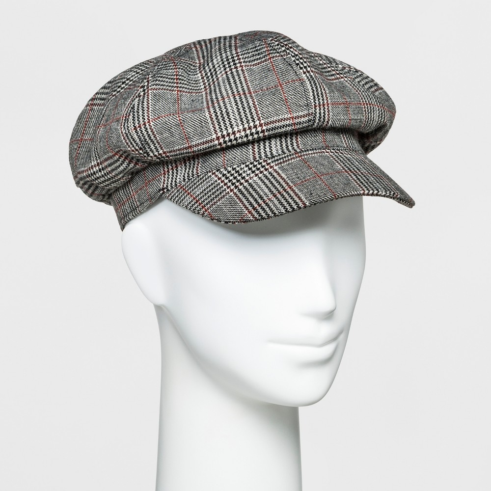 1920s Style Hats Womens Newsboy Hat - A New Day Plaid $12.99 AT vintagedancer.com