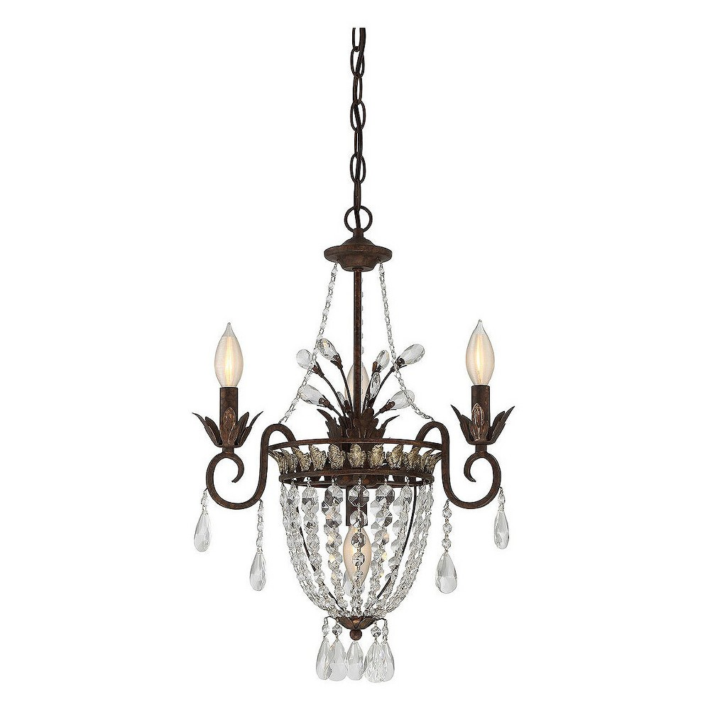 New Tortoise Shell with Silver Mini Chandelier (Set of 4) - Filament Design