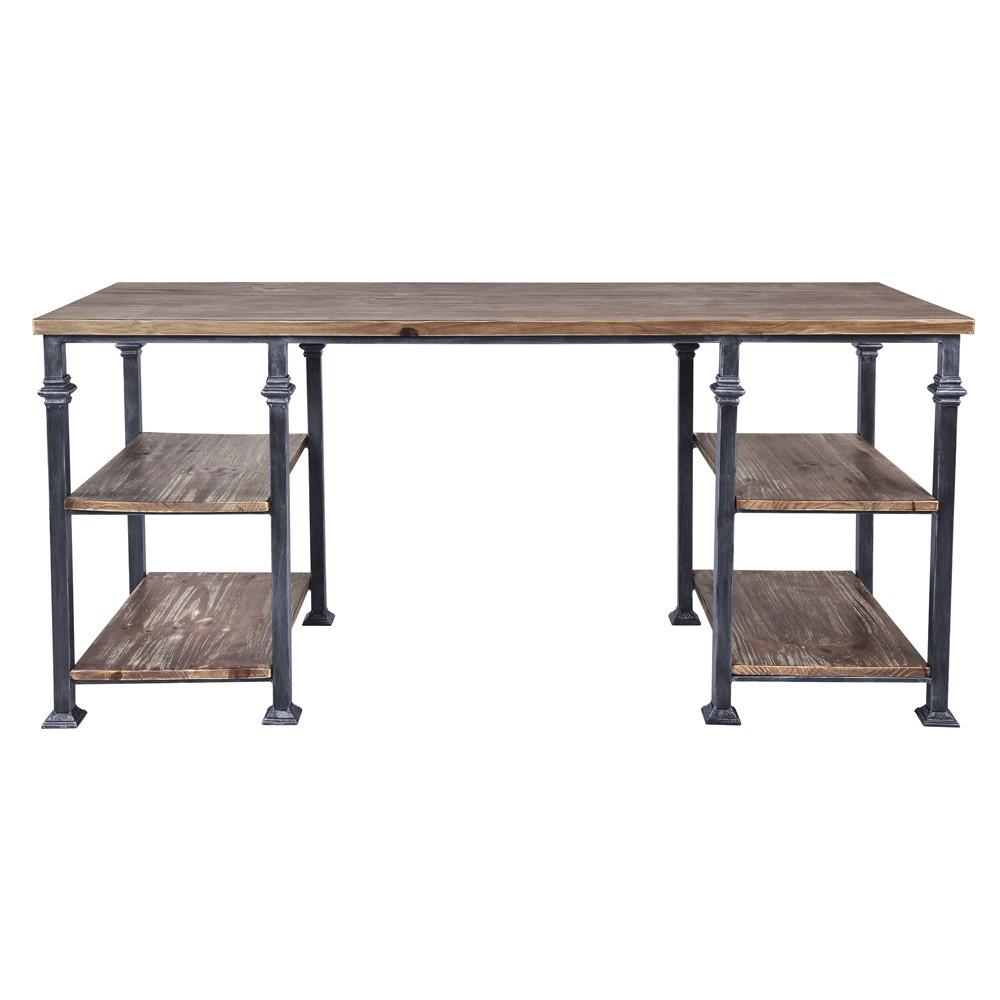 Liam Industrial Desk Gray - Armen Living