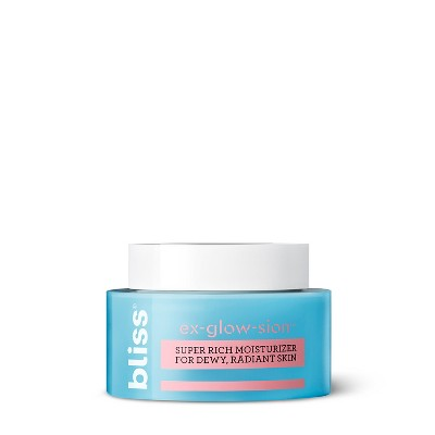 view Bliss Ex-glow-sion Moisturizer - 1.7 fl oz on target.com. Opens in a new tab.