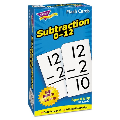 TREND Skill Drill Flash Cards, 3 x 6, Subtraction - image 1 of 1