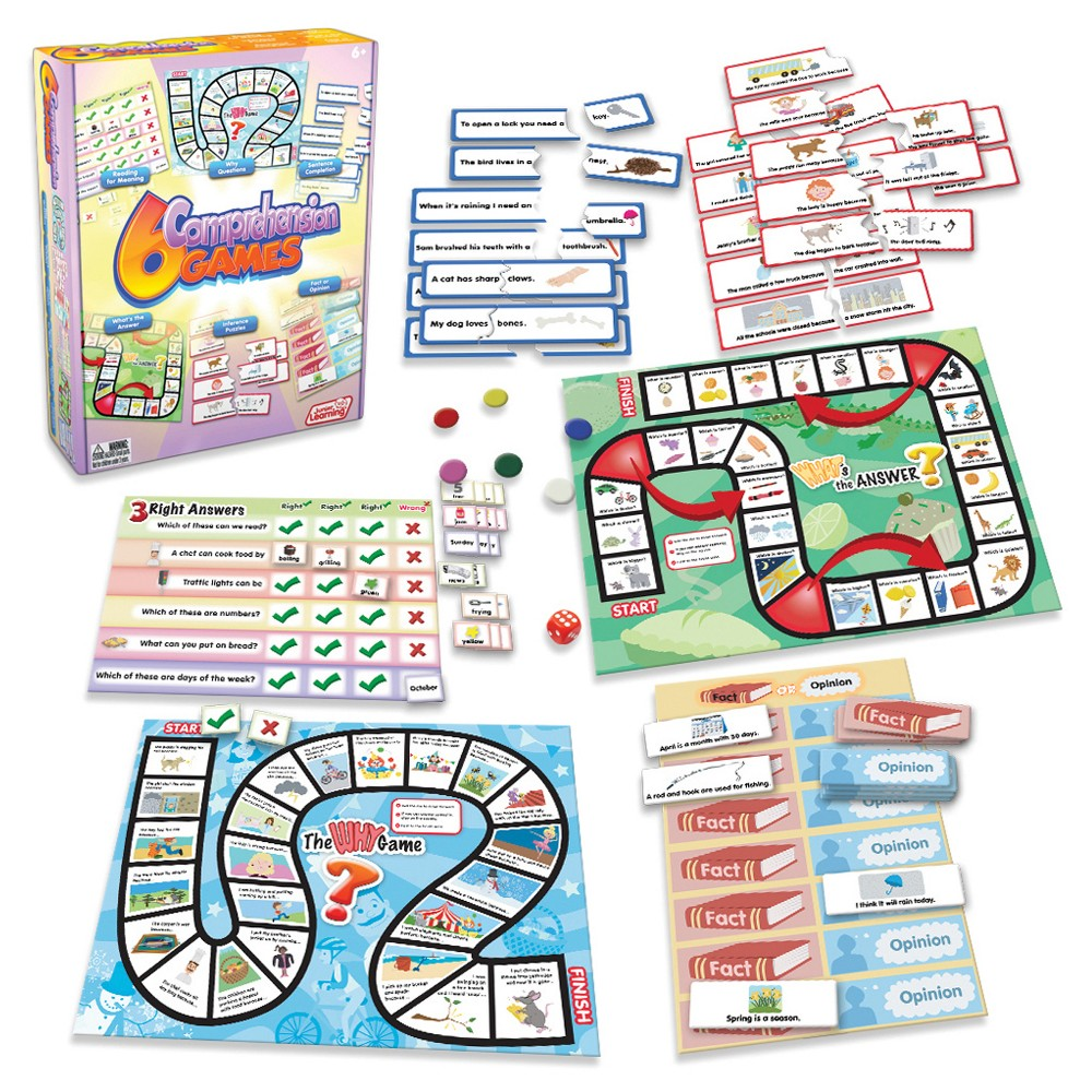 Image of Junior Learning Comprehension Games 6ct