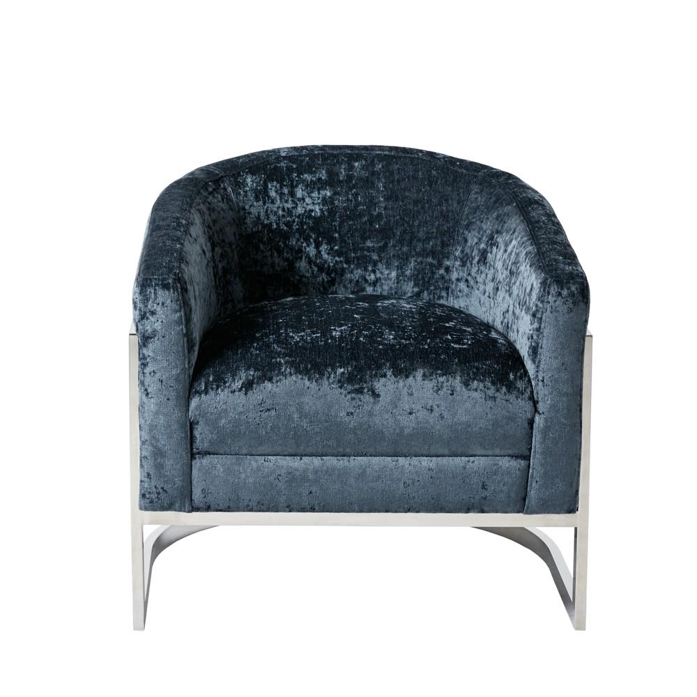 Kiley Accent Chair Blue/Chrome (Blue/Grey)