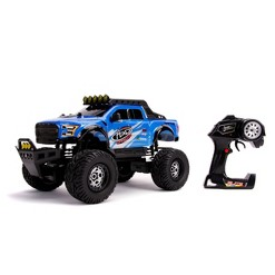 Jada Toys Just Trucks Elite 4x4 RC 2017 Ford Raptor Remote Control Vehicle 1:12 Scale Glossy Blue