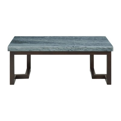Cypher Marble Rectangular Coffee Table Gray - Picket House Furnishings