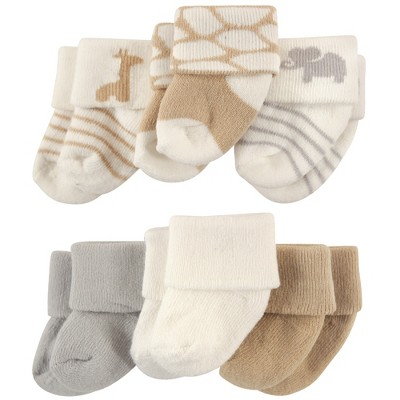 Luvable Friends Baby Unisex Newborn and Baby Socks Set, Safari, 0-3 Months